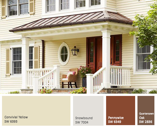 Domain decorating restoration for Yellow exterior paint colors